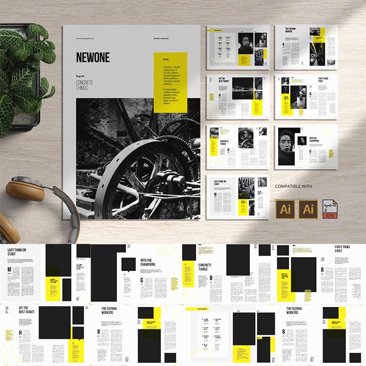 15页房地产楼书杂志画册宣传册产品品牌手册图文排版AI矢量模板