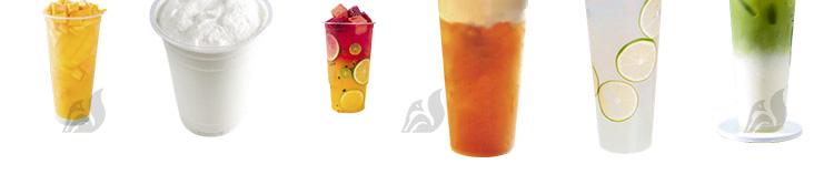 果汁奶茶实景图水果茶冰沙奶盖冷饮外卖菜单免扣海报PNG素材模板