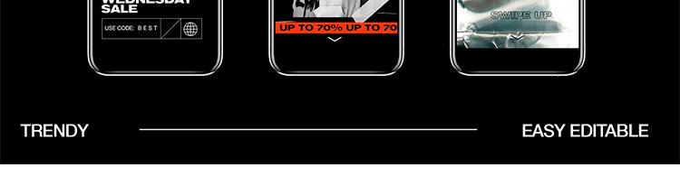潮流酷炫创意拼贴淘宝男装图文排版psd宣传广告ps设计素材模板