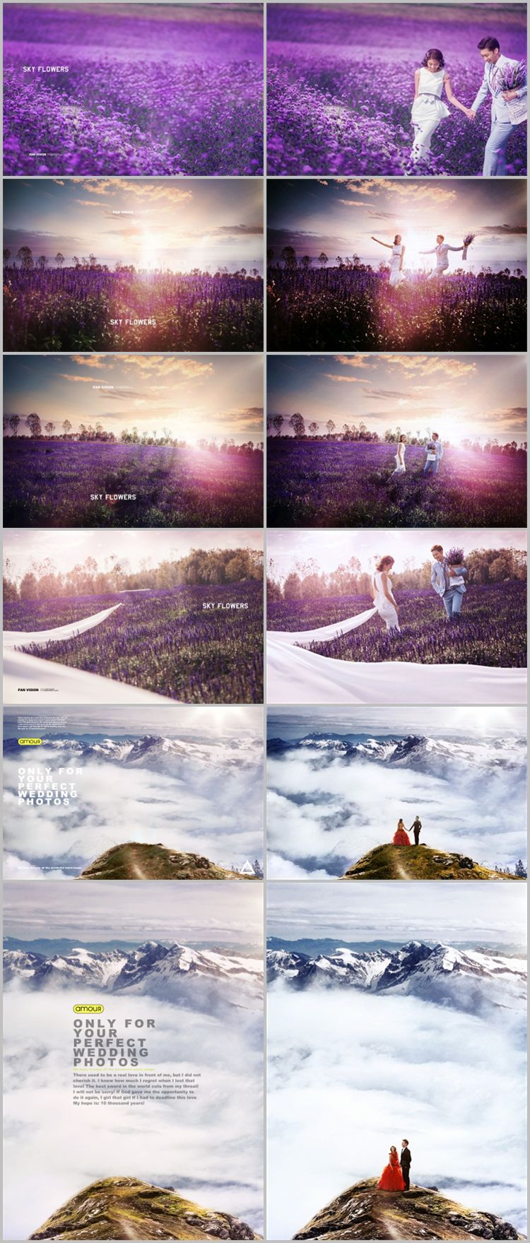 梦幻5D旅拍合成前景背景素材婚纱写真大片飘纱抠图溶图换景PS模板
