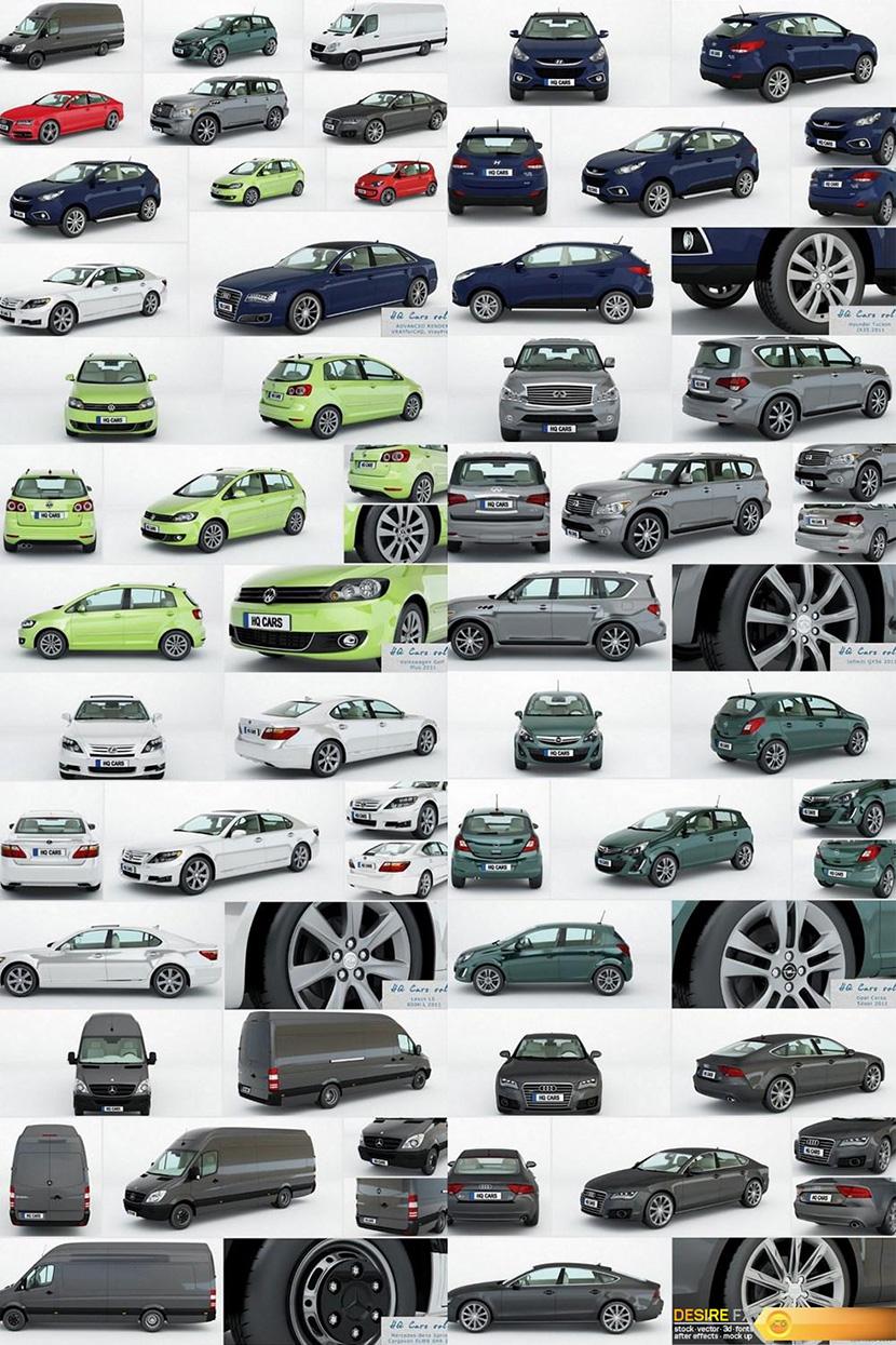 C4D汽车模型合集 Vray C4D 跑车轿车