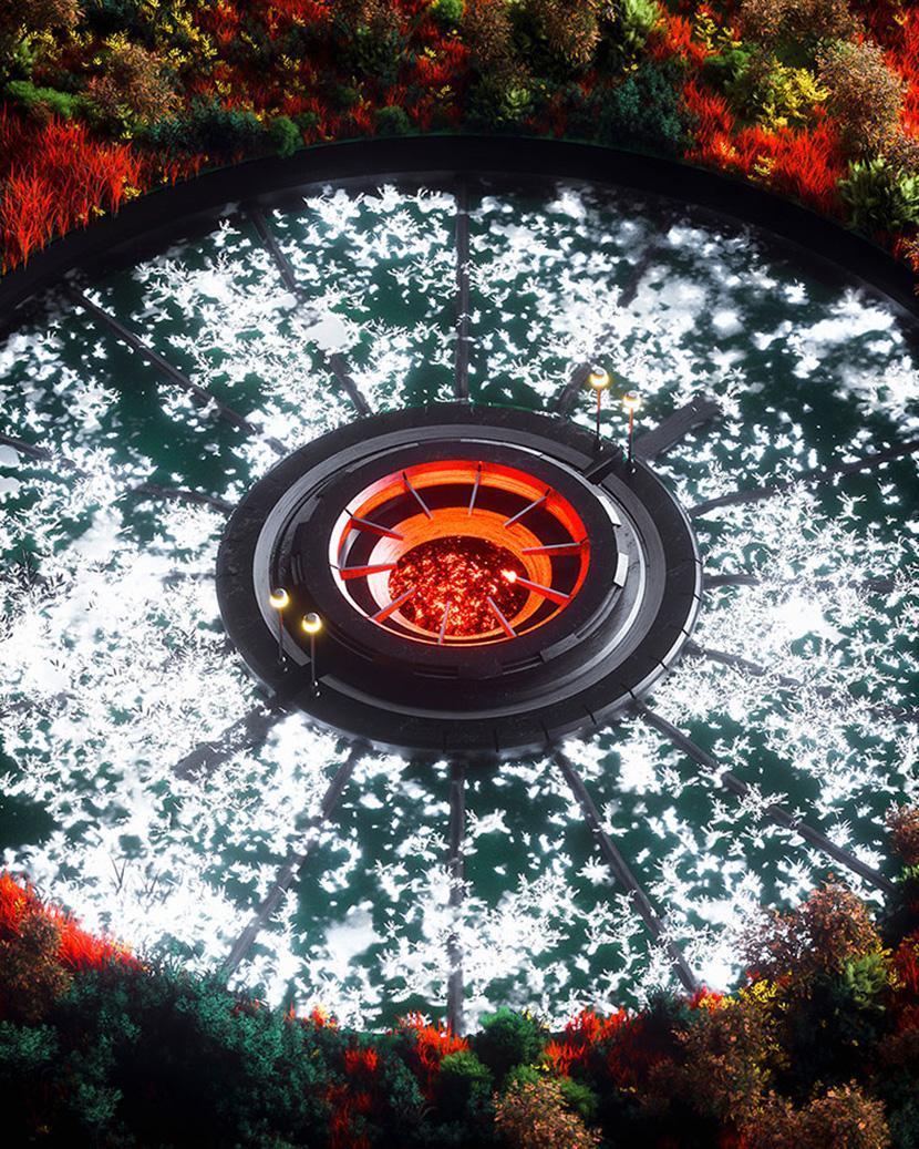 科幻圆型熔炉C4D创意工程Cinema4DOctane模型3D素材