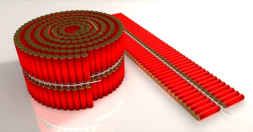 一千响的大地红一串鞭炮C4D模型非实物创意场景3D模型素材