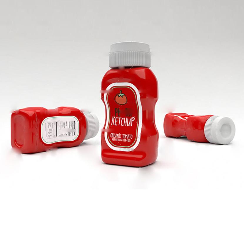 C4D Octane番茄酱瓶模型创意场景3D模型素材食物调料