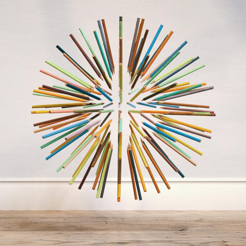 C4D Octane Renderer铅笔克隆圆球形状动画工程创意3D素材