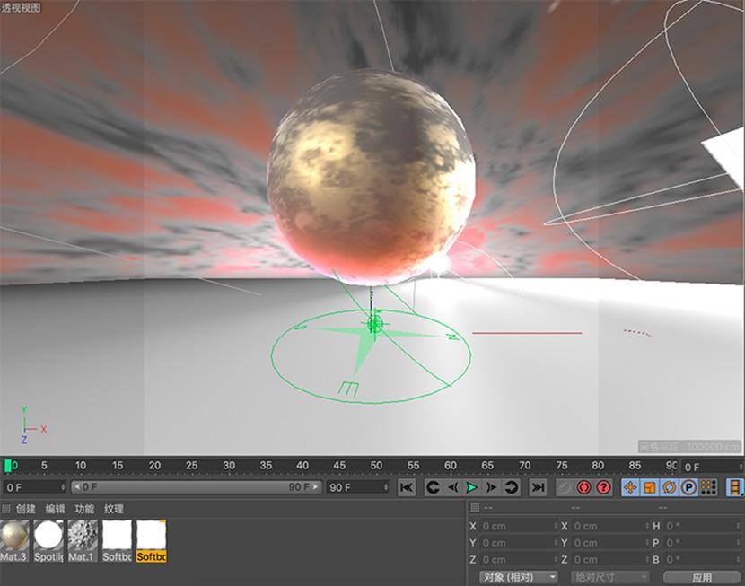 C4D外星球上的金属球创意工程文件创意场景3D模型素材