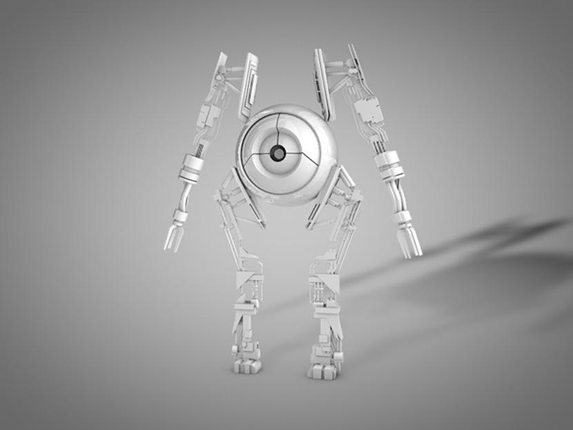C4D皮克斯机器人模型8个科幻创意场景3D模型素材