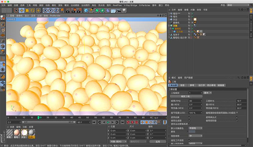 葡萄C4D模型渲染水果素材创意场景3D模型素材