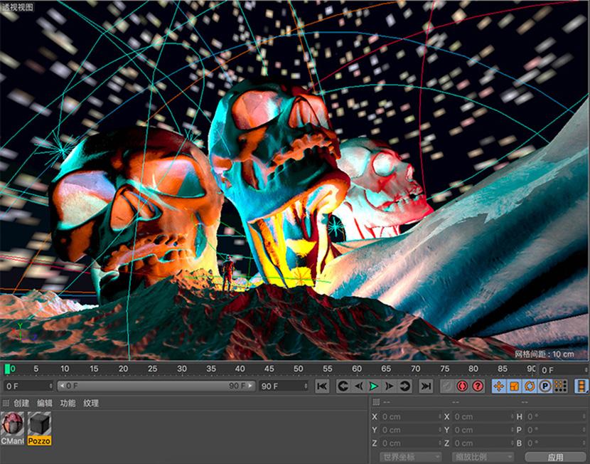 C4D人间炼狱创意科幻工程创意场景3D模型OC渲染素材材质贴图