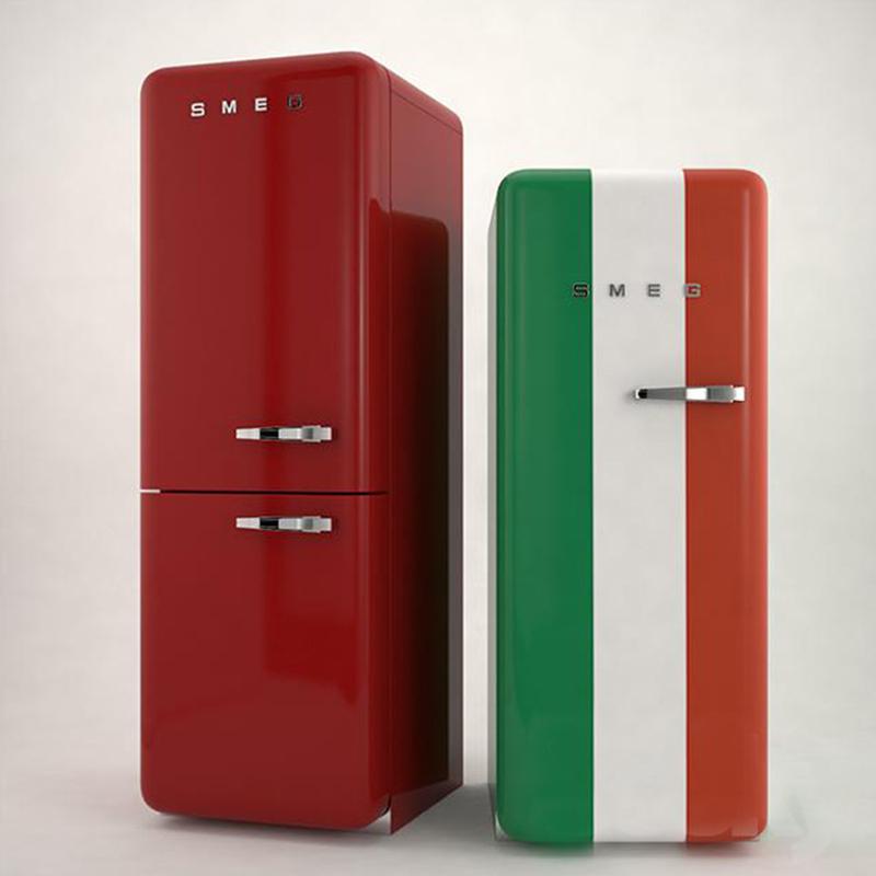 时尚品牌冰箱C4D模型创意场景3D模型素材非实物电影道具