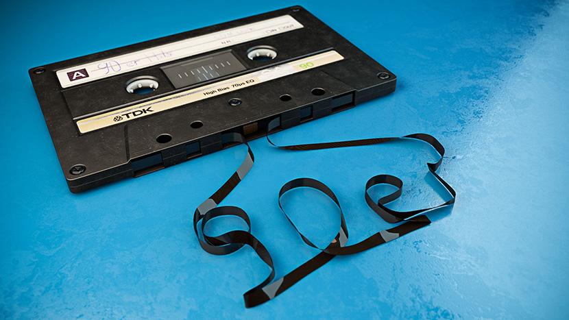 老式随身听磁带录音带C4D高精模型