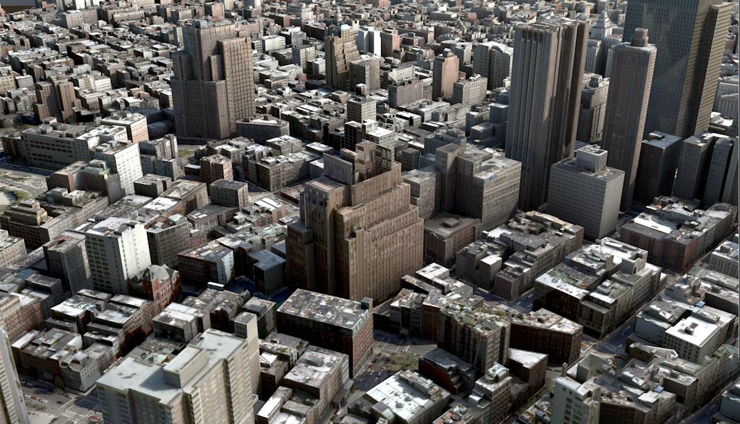 室外建筑纽约城市C4D三维素材楼房房屋大厦低面3D模型合集