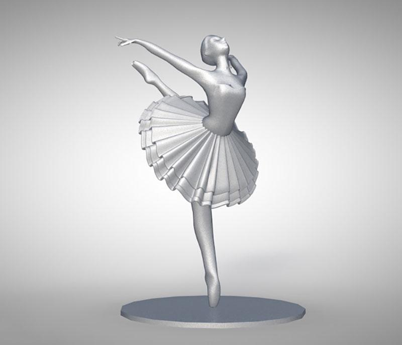 三维素材室外石头建筑雕塑浮雕雕像人物芭蕾舞蹈女孩C4D模型