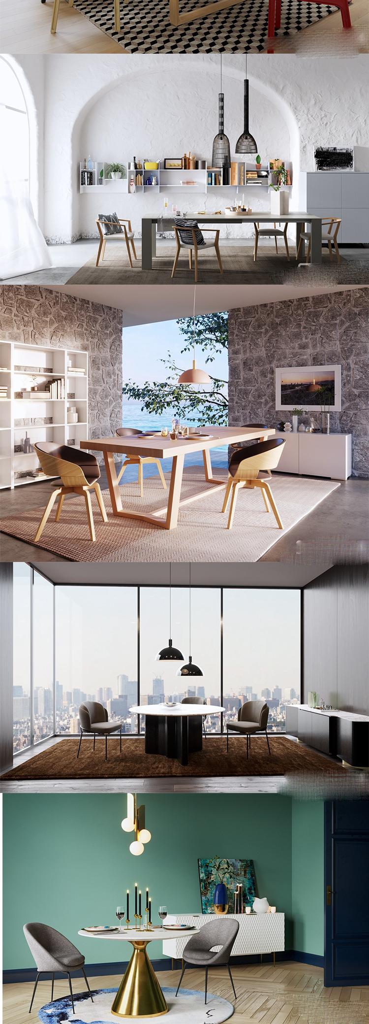 C4D fbx北欧小清新室内厨房客厅居家灯具3D三维MAX模型素材
