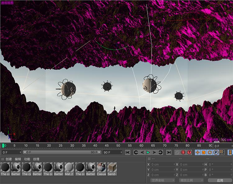 C4D外星峡谷裂缝科幻场景创意工程创意场景3D模型素材