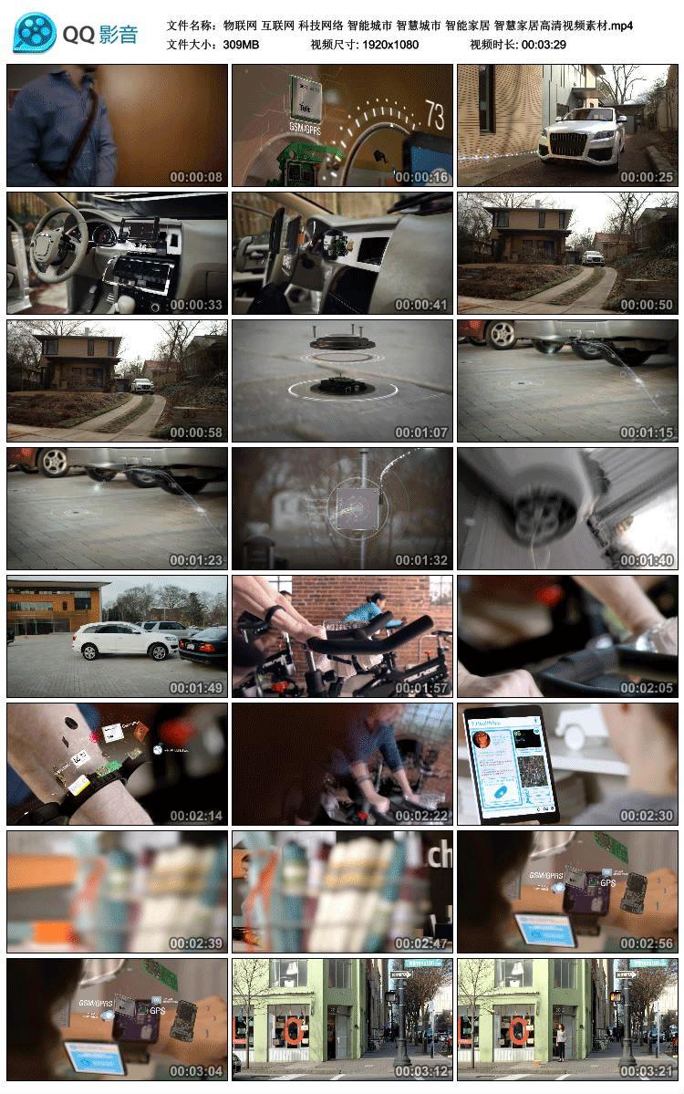 物联网互联网科技网络智慧城市智能家居汽车手表健身高清视频素材