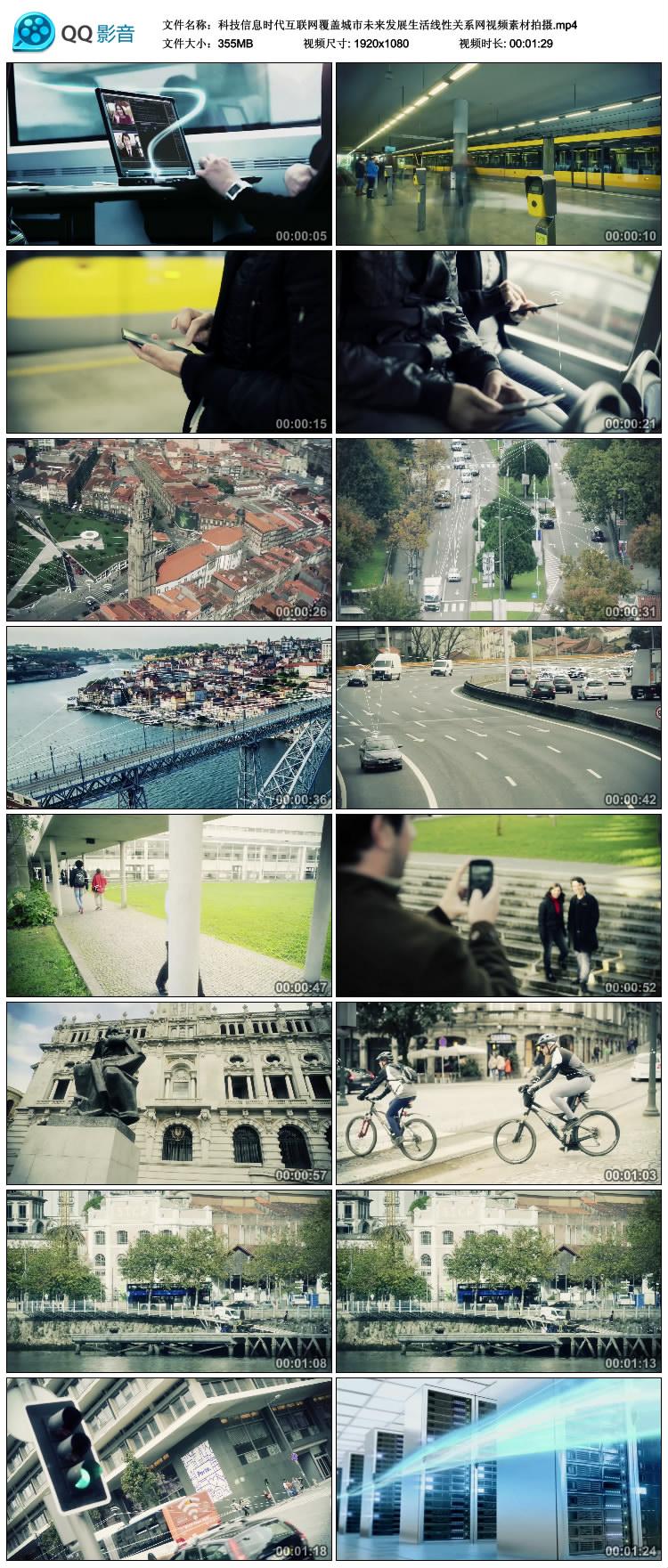 科技信息时代互联网覆盖城市未来发展生活线性关系网高清视频素材