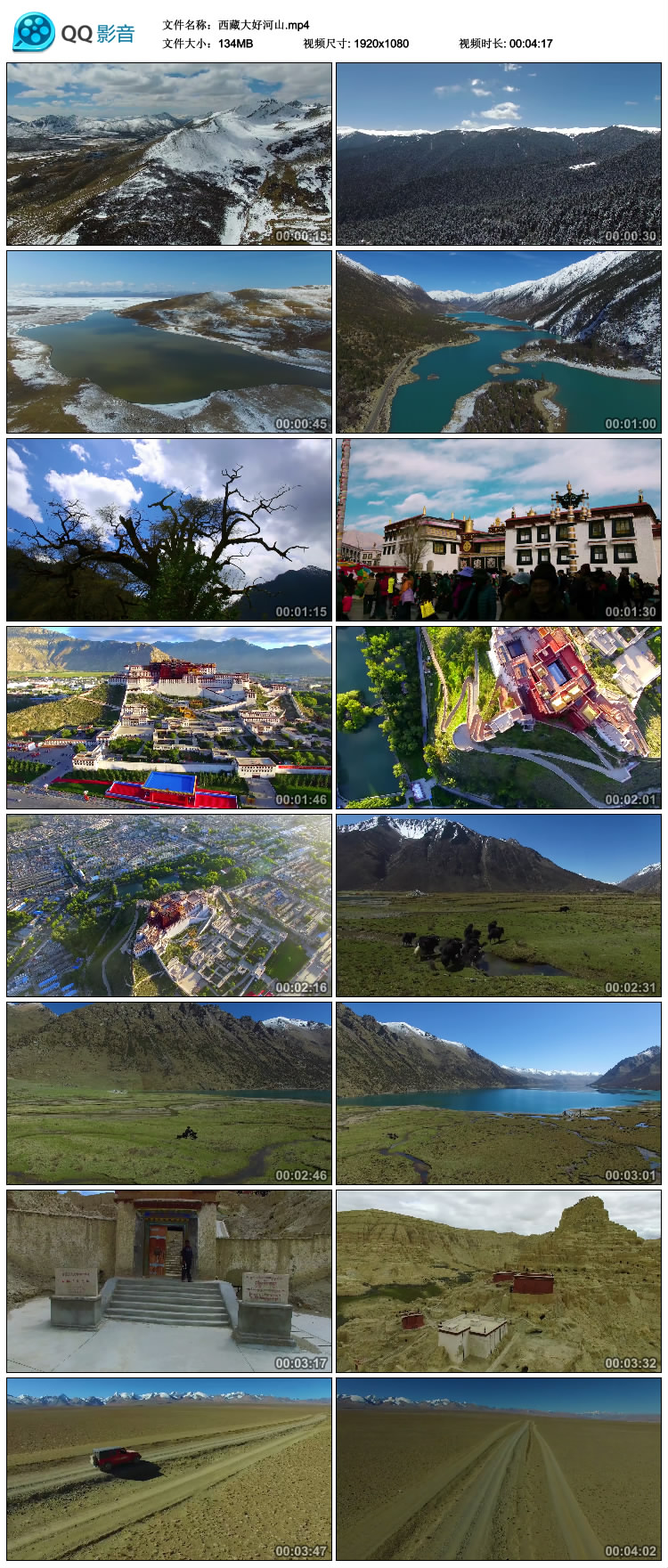 西藏雪山高原藏族文化雅鲁藏布江大峡谷布达拉宫高清实拍视频素材