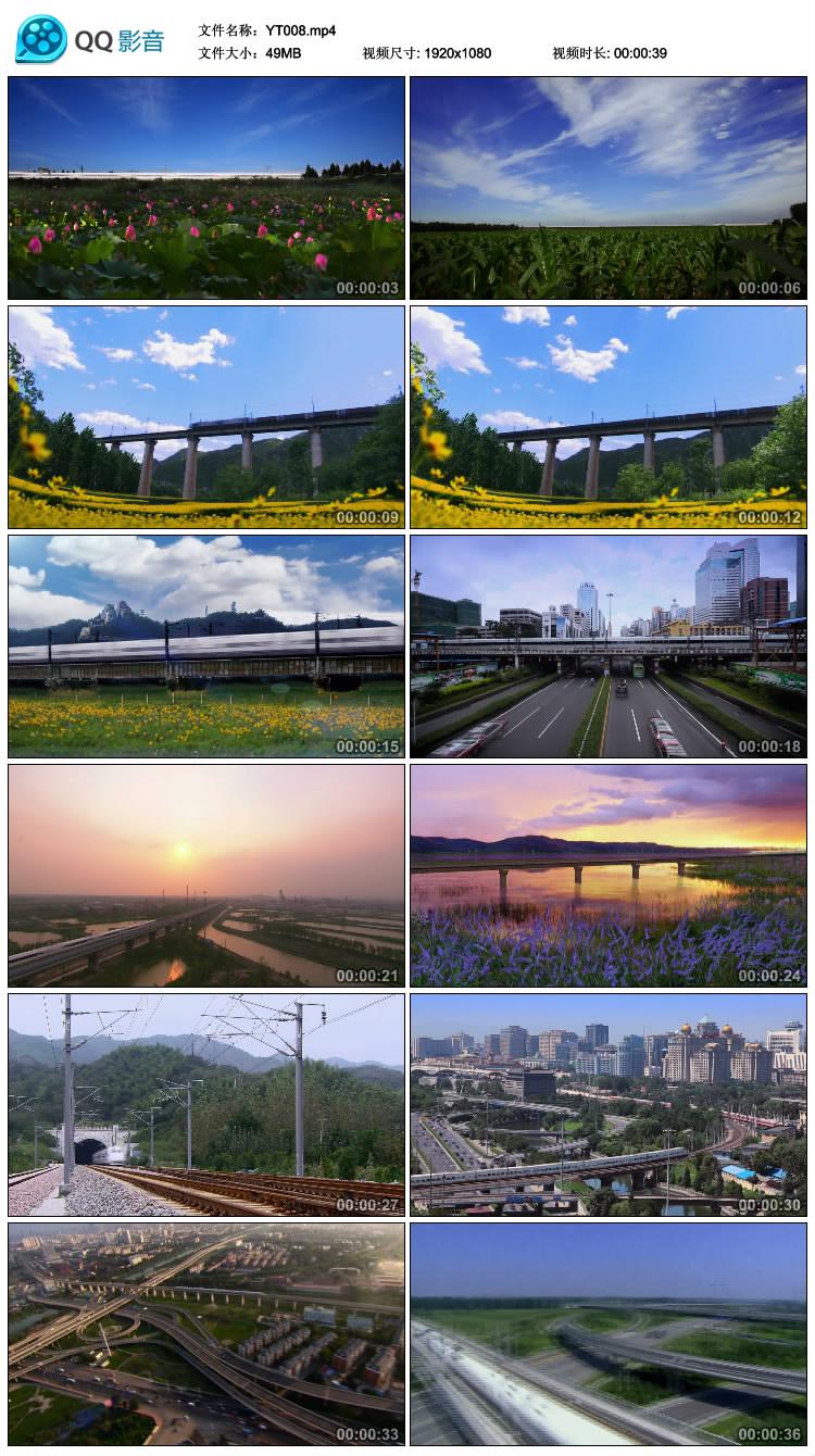 铁路运输 交通运输建设 高铁 和谐号 动车行驶 高清实拍视频素材