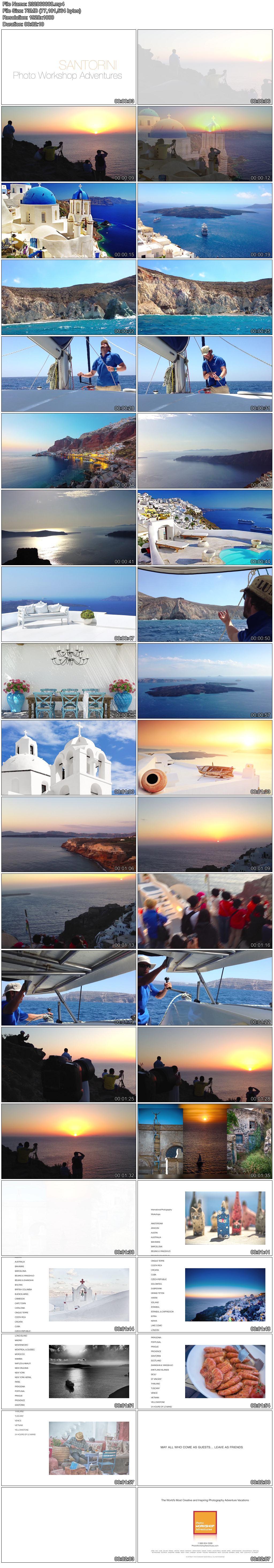 高清实拍视频素材希腊爱琴海最璀璨的一颗明珠圣托里尼岛教堂休闲