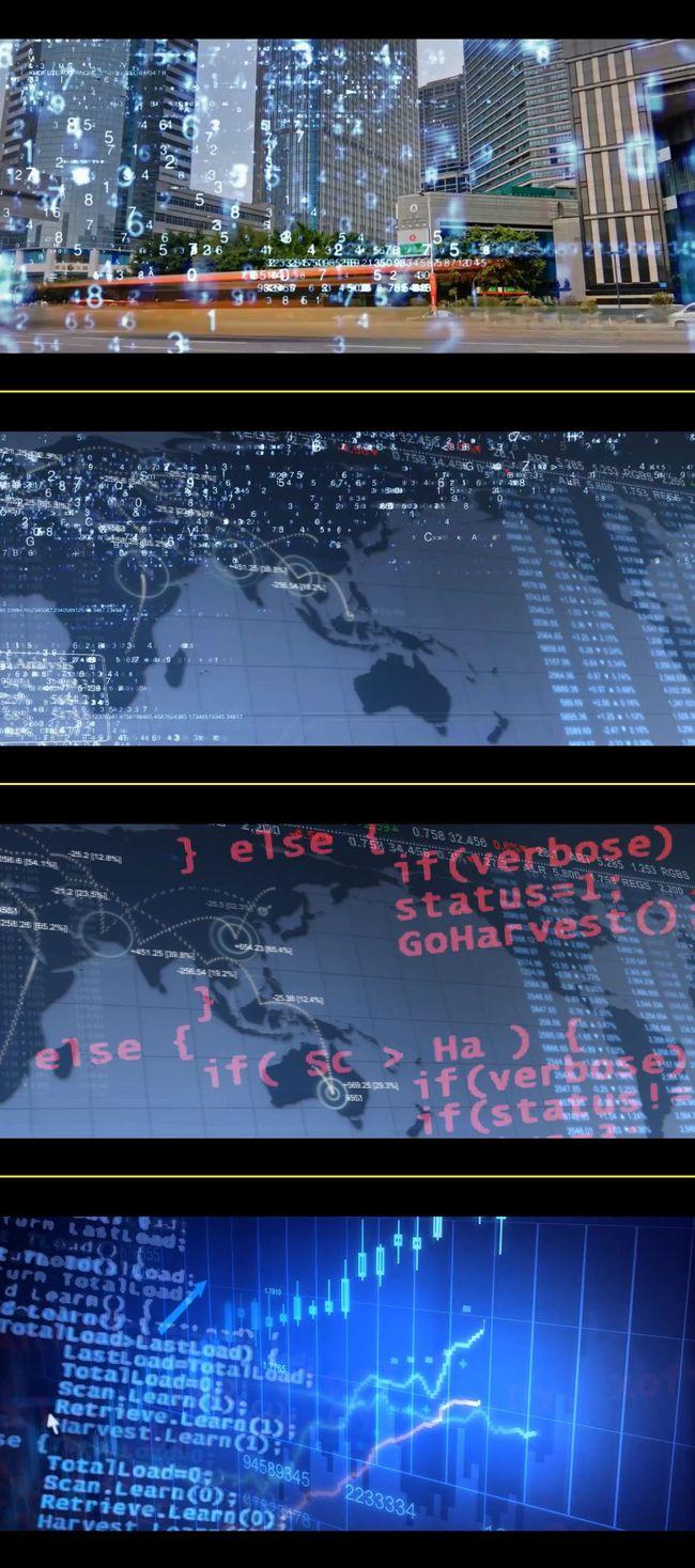 高科技电子商务互联网城市通讯数码数据金融影视高清视频素材