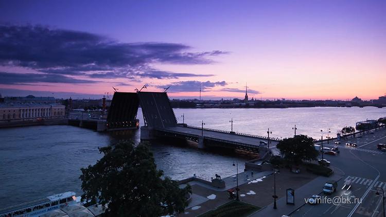 圣彼得堡城市风景 人文生活拉小提琴 俄罗斯夜景大桥建筑视频素材