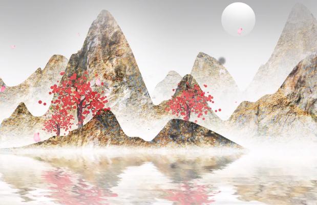 AE模板-美丽中国水墨风开场