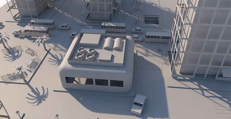 C4D折纸城市作业工程文件创意场景3D模型素材