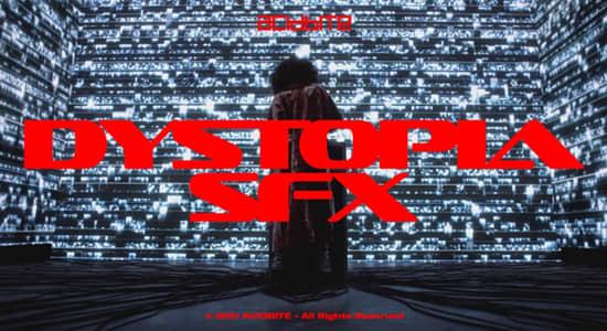 音效素材-202个黑暗科技VHS干扰毛刺故障音效 Dystopia SFX
